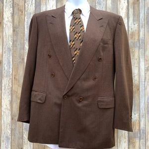 Canali Milano Herringbone 100% Wool Sport Coat